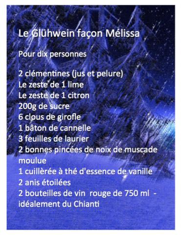 Le Glühwein façon Mélissa