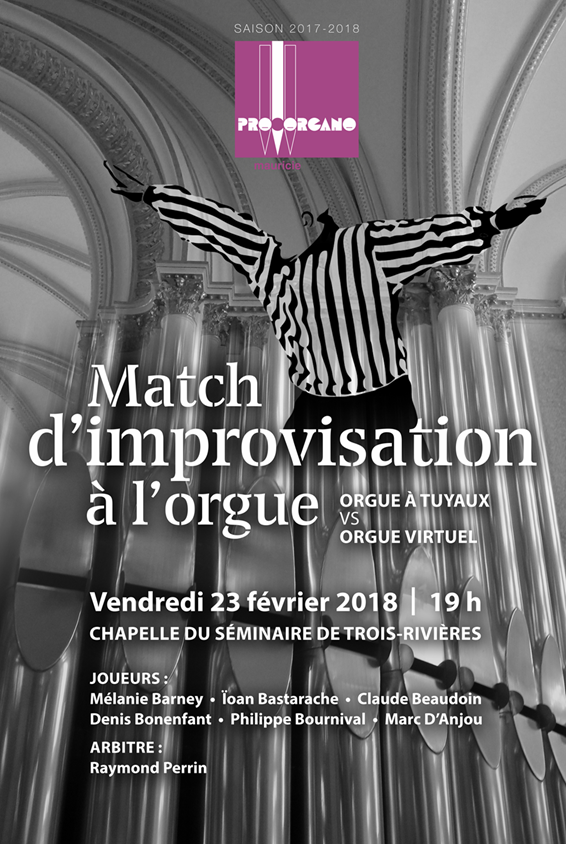 Raymond Perrin vous convie au prochain -  Match d'improvisation à l'orgue